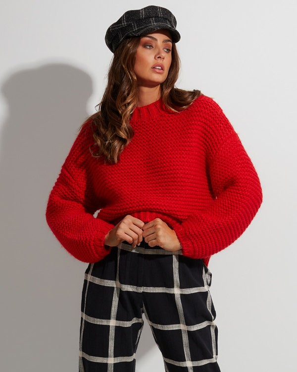 0 I See You Sweater Red 6507800 Billabong