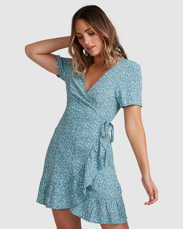 0 Bluesday Wrap Dress Blue 6507938M Billabong