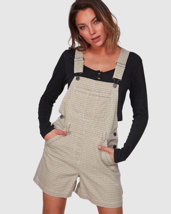 0 Check It Out Overalls Beige 6508432 Billabong