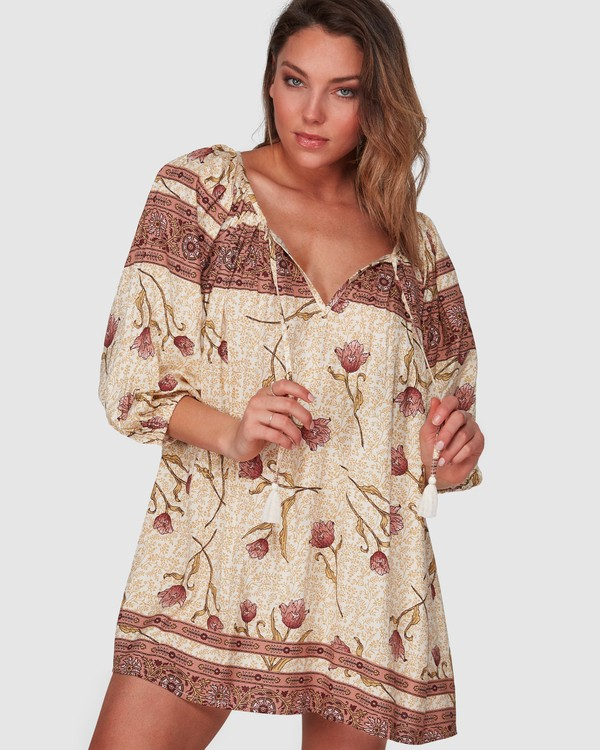 0 Driftaway Dress Beige 6508472 Billabong