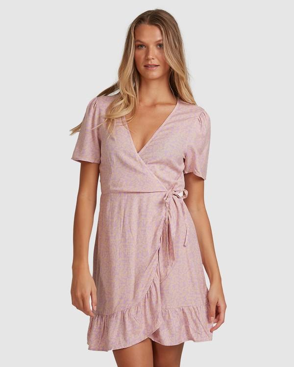 0 Lavender Sky Wrap Dress Purple 6508488 Billabong