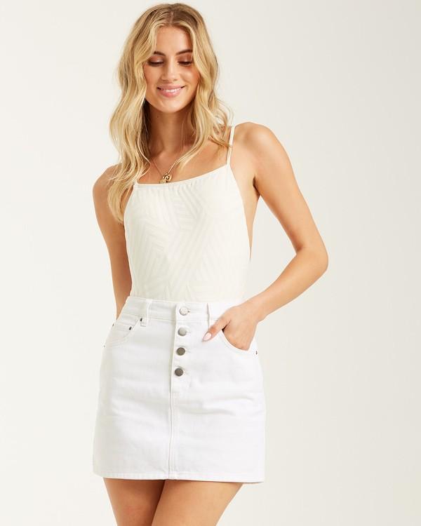 0 Cute As A Button Skirt White 6508524 Billabong