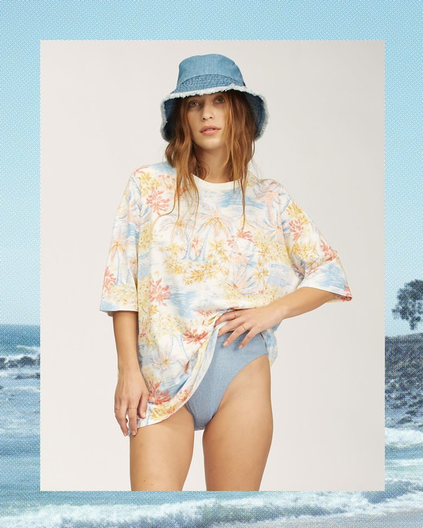 0 Wrangler Western Shores T-Shirt Grey 6513022 Billabong
