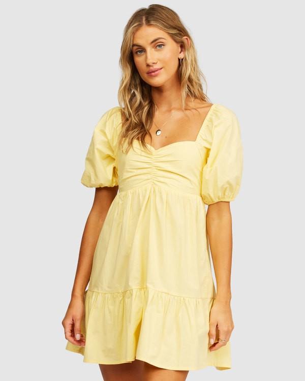 0 Be Mine Babydoll Dress Yellow 6513497 Billabong