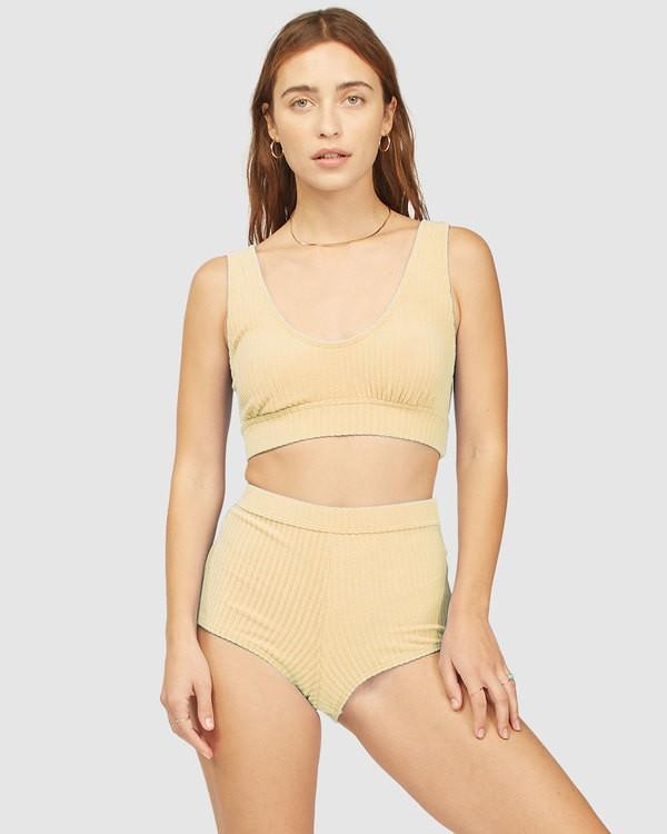 0 Wrangler Face The Sun Banded Tank Bikini Top Yellow 6513855 Billabong