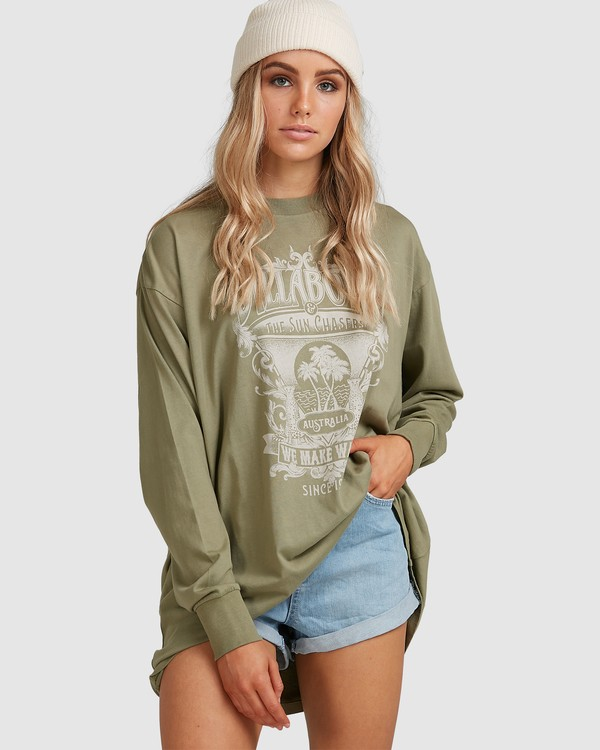 0 Sun Chasers Long Sleeve Tee Green 6517072 Billabong