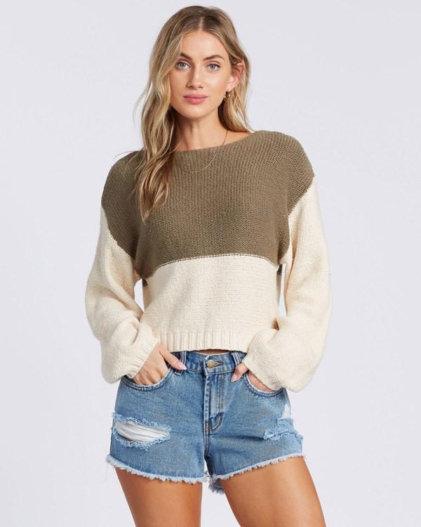 0 Seeing Stripes Sweater Green 6517297 Billabong