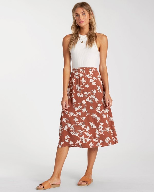 0 Wild and Free Skirt Brown 6517319 Billabong