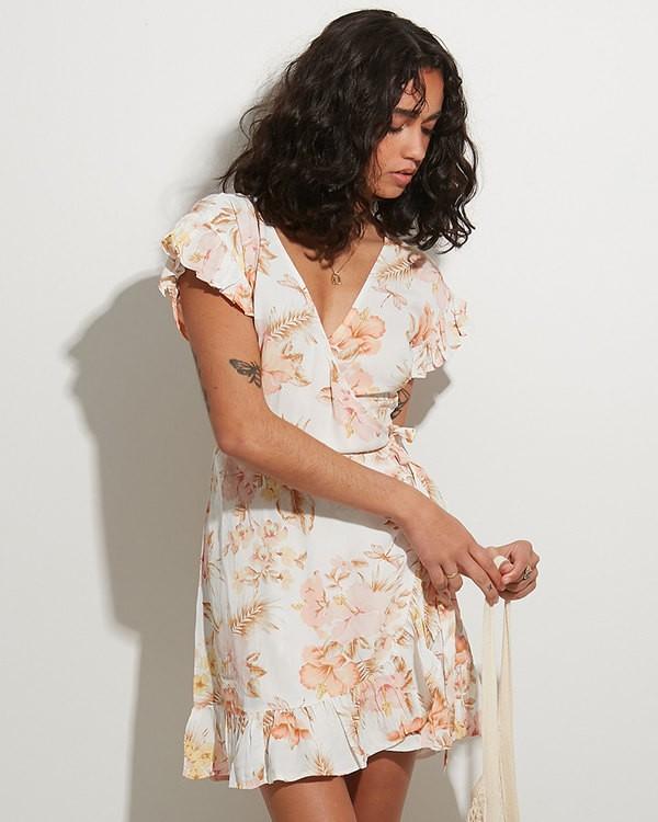 0 Shallows Wrap Dress White 6517463 Billabong