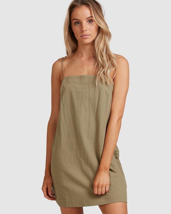 0 Sunset Cotton Dress Green 6517465 Billabong
