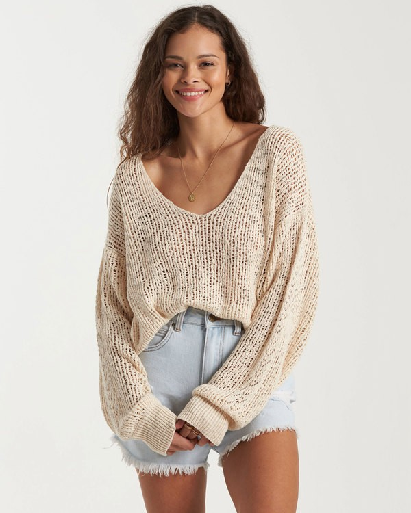 0 Feel The Breeze Sweater White 6517956 Billabong