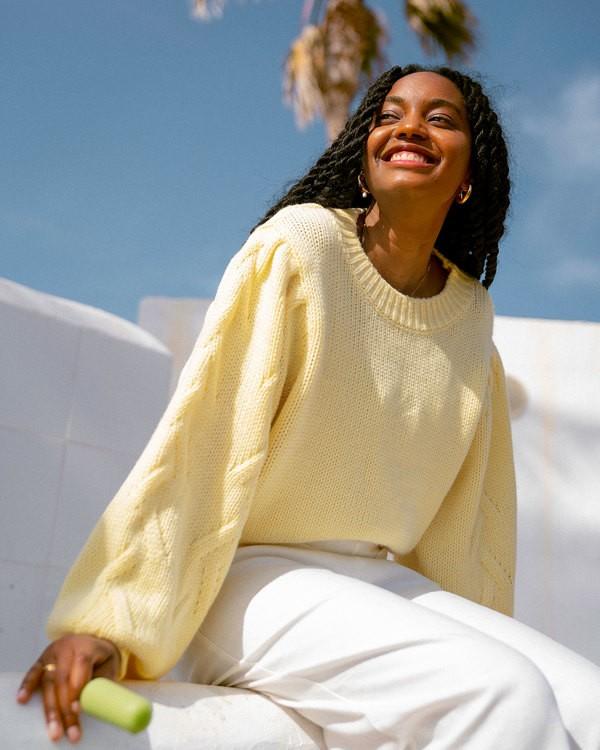 0 Honey Dew Sweater Yellow 6517980 Billabong