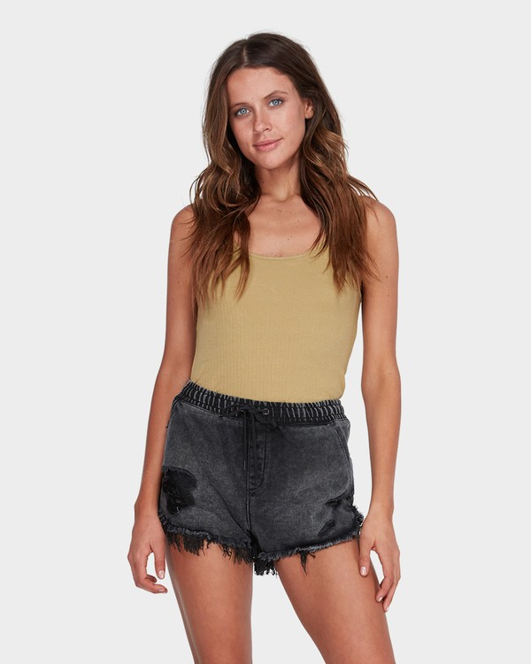 0 DRIFTERS FRAYED SHORT Black 6575277 Billabong