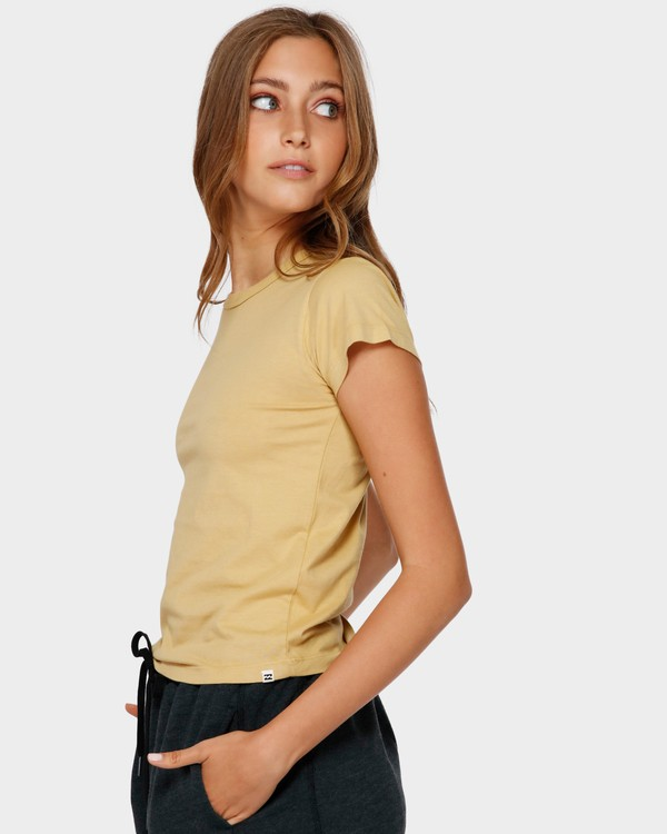 0 WHAT MIGHT BE TEE Yellow 6581144 Billabong