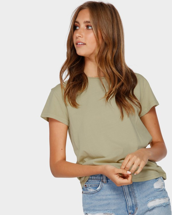0 ECHO TEE Green 6581149 Billabong