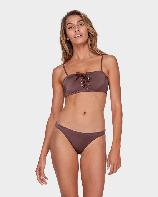 0 SEA CHASER BANDEAU BIKINI TOP Brown 6581562 Billabong