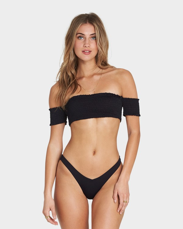 0 SOL SEARCHER OFF SHOULDER BIKINI TOP Black 6581786X Billabong