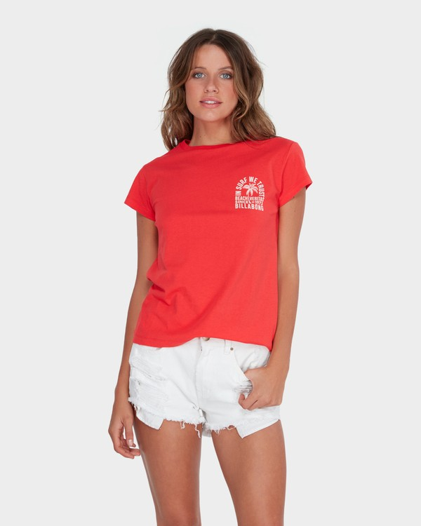 0 BEACH VIBES TEE Red 6582012 Billabong