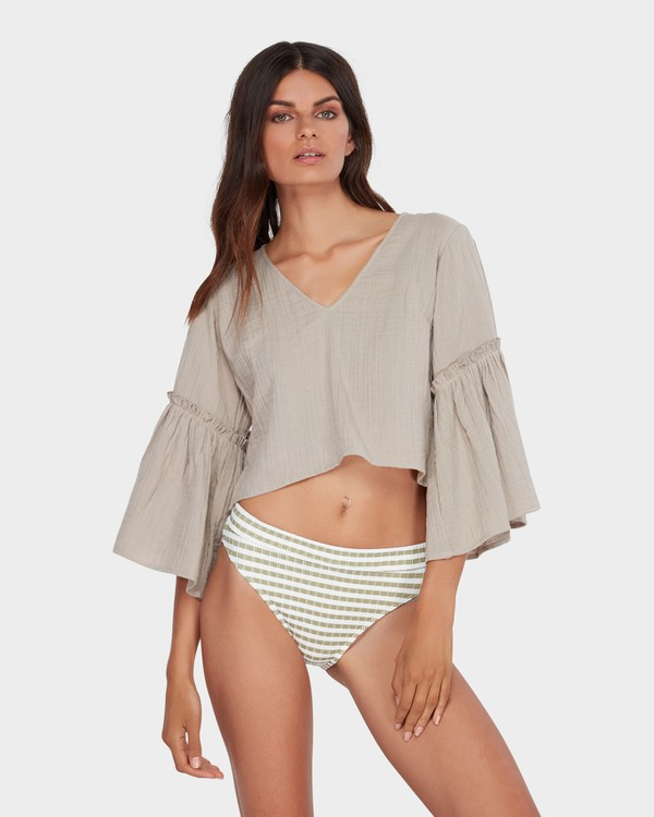 0 ISLAND FOLK TOP Brown 6582097 Billabong