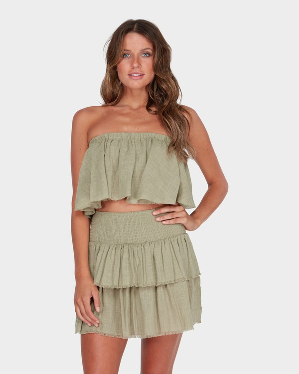 0 CAPRI FRILL TOP Green 6582104 Billabong