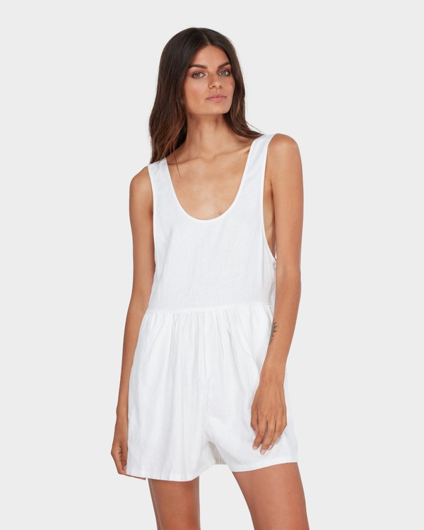 0 CABO LINEN PLAYSUIT White 6582511 Billabong