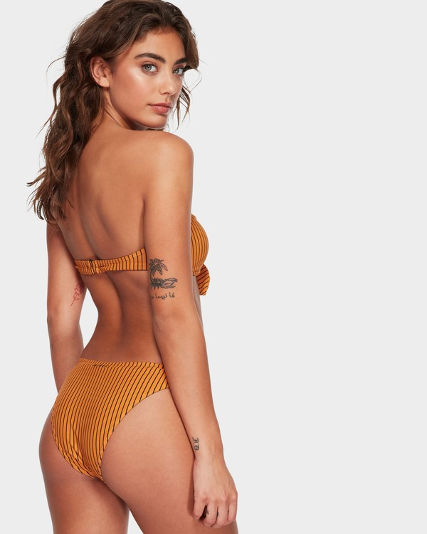 0 DAYLIGHT STRIPE BIKINI BOTTOM Yellow 6582779X Billabong