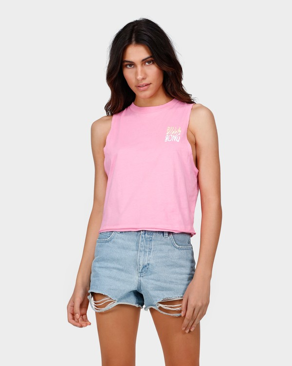 0 TRUST ME CROP MUSCLE TOP Pink 6585182 Billabong