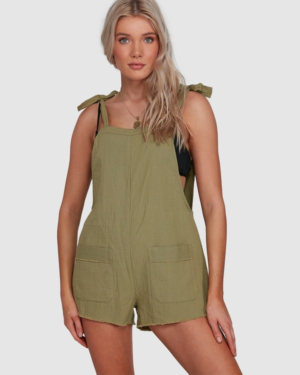 0 Girl On The Run Playsuit Green 6591153 Billabong