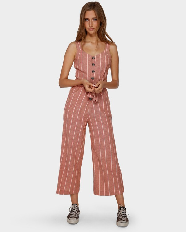 0 Crossfire Stripe Jumpsuit Orange 6591512 Billabong