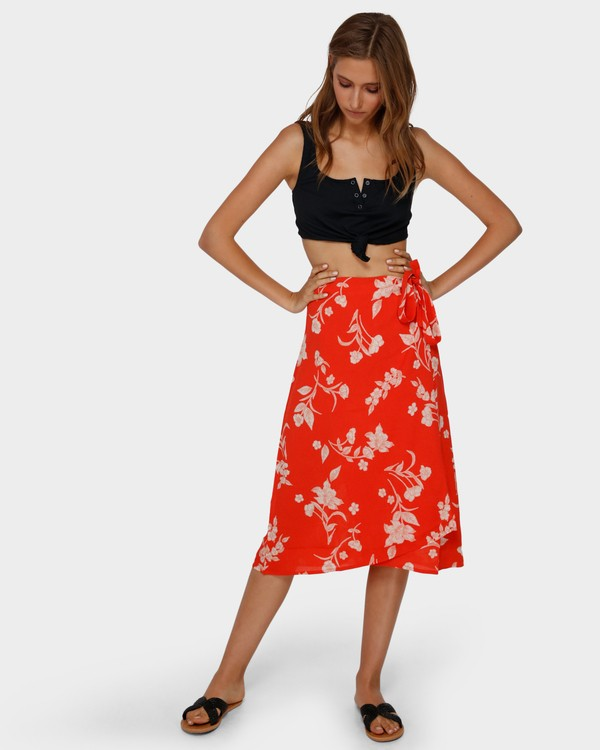 0 MAD LOVE FLORAL SKIRT Orange 6591522 Billabong