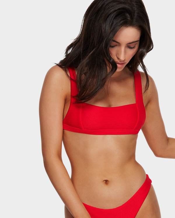 0 Tanlines Square Bikini Top Red 6591634 Billabong