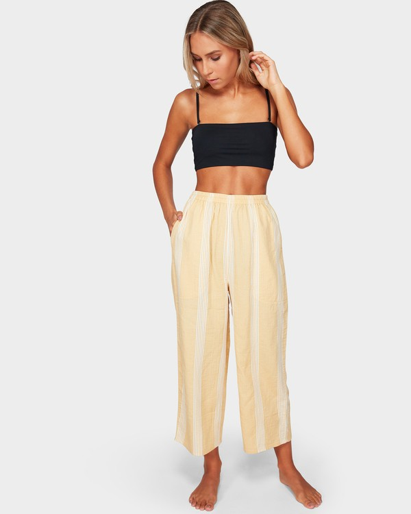 0 Sylvia Stripe Pants Yellow 6592154 Billabong