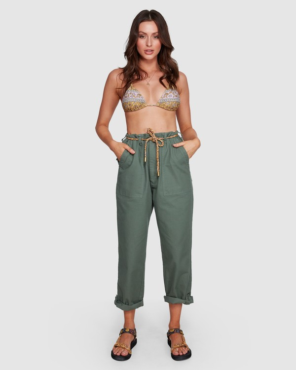 0 Elle Ferguson Swagger Cargo Pants Green 6592409M Billabong