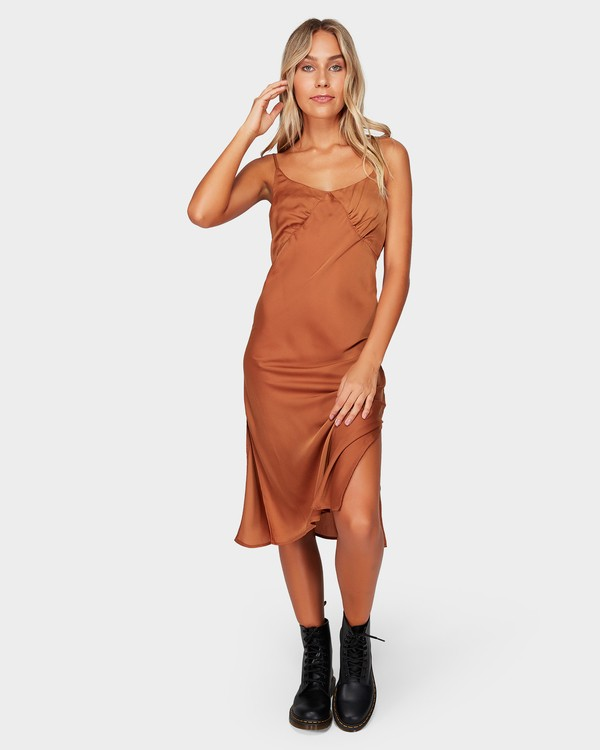 0 SUNDANCE SLIP DRESS Brown 6592477 Billabong