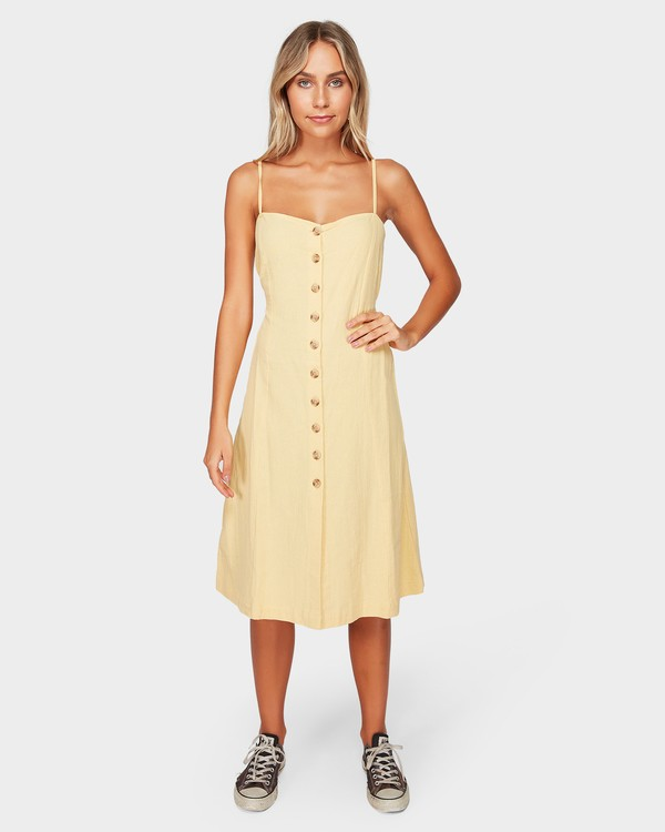 0 Paradiso Midi Dress Yellow 6592484 Billabong