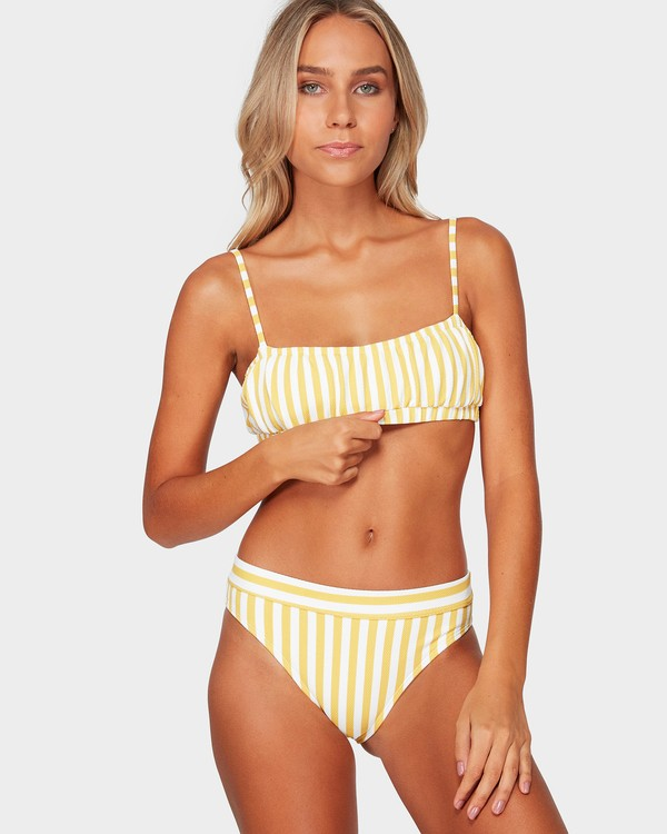 0 Cassy Stripe Bralette Bikini Top Yellow 6592587 Billabong