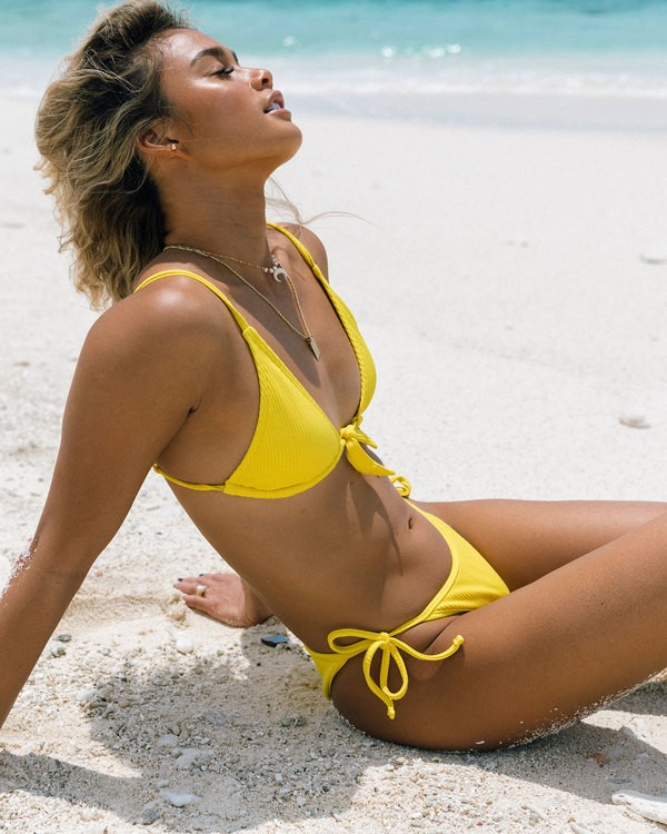 0 Sand Dunes Skinny Biarritz Bikini Bottoms Yellow 6592599 Billabong