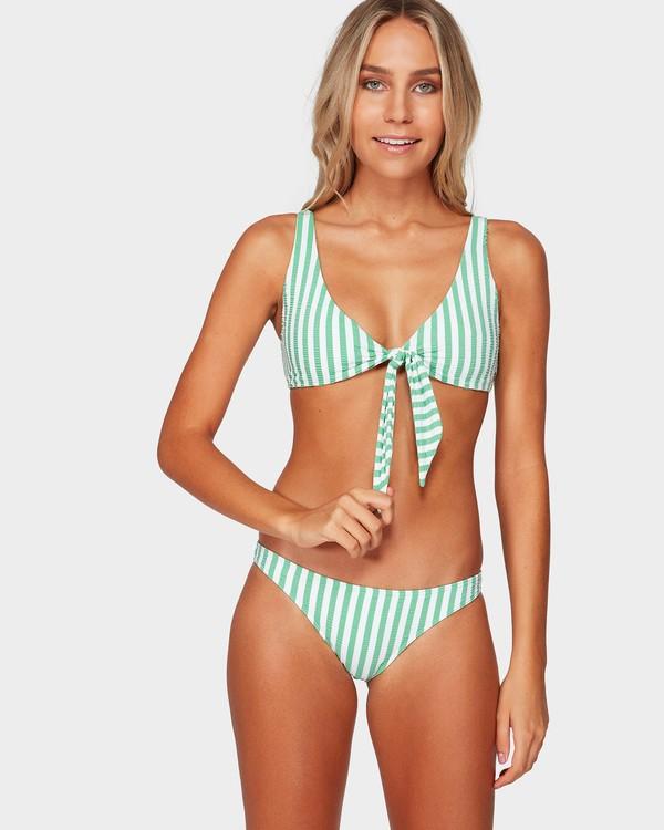 0 Brooke Stripe Two Way Tie Bikini Top Green 6592623 Billabong