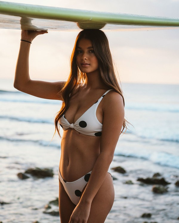0 Aurora Spot Bralette Bikini Top Beige 6592628 Billabong