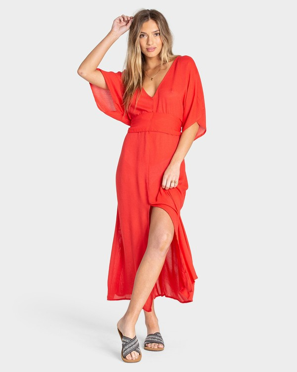 0 FOREVER FINE DRESS Red 6595490X Billabong