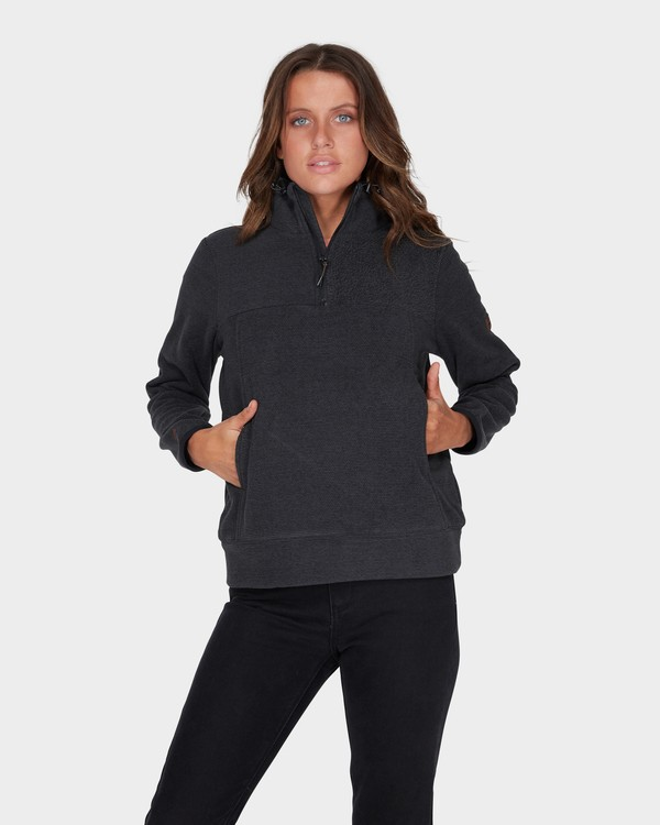 0 BOUNDARY MOCK HALF ZIP FLEECE Black 6595733 Billabong