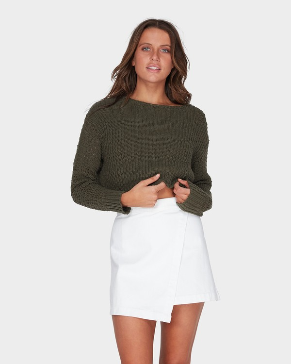 0 Breezeway Knit Crew Green 6595796 Billabong