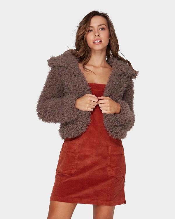 0 Fur Keeps Jacket Beige 6595901 Billabong