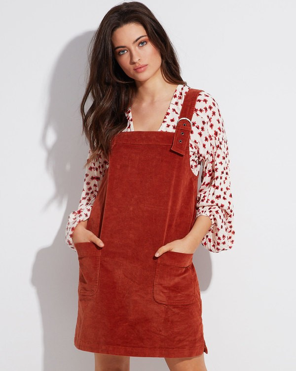 0 IN THE MIX CORD DRESS Brown 6596473 Billabong