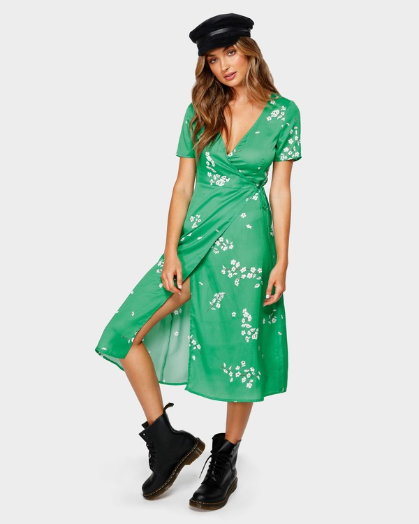 0 JADE WRAP DRESS Green 6596485M Billabong