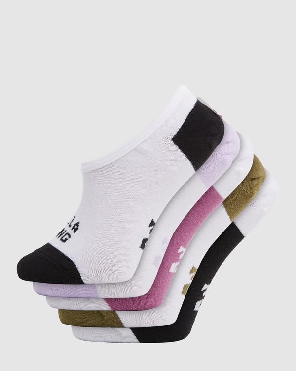 0 Stacked Invisible 5 Pack of Socks Black 6603703 Billabong