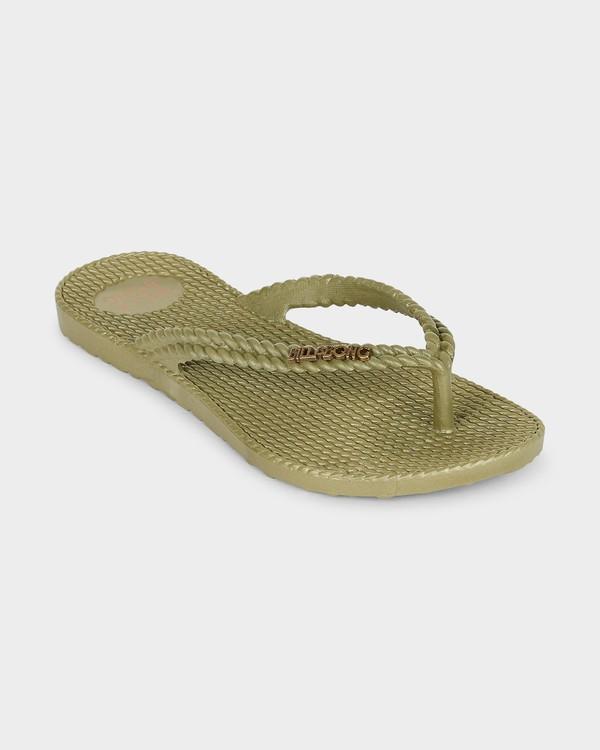 0 Kick Back Solid Thongs Green 6661856 Billabong
