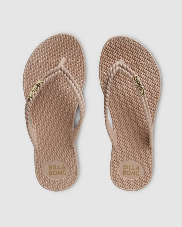 0 Kick Back Solid Thongs Beige 6661856 Billabong