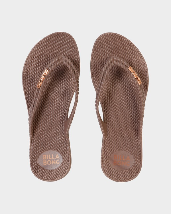 0 Kick Back Solid Thongs Brown 6661856 Billabong