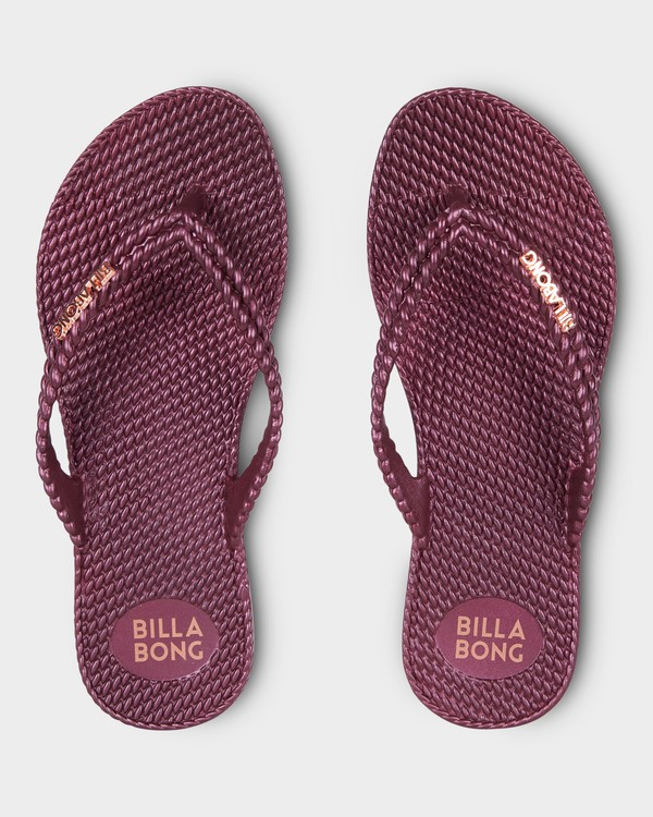 0 KICK BACK THONGS Red 6661858 Billabong